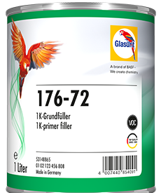 Glasurit 176-72 1K PRIMER FILLER, DARK GREY, WATER-THINNABLE