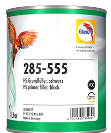 Glasurit 285-555 Primer riempitivo HS, nero, miscelabile
