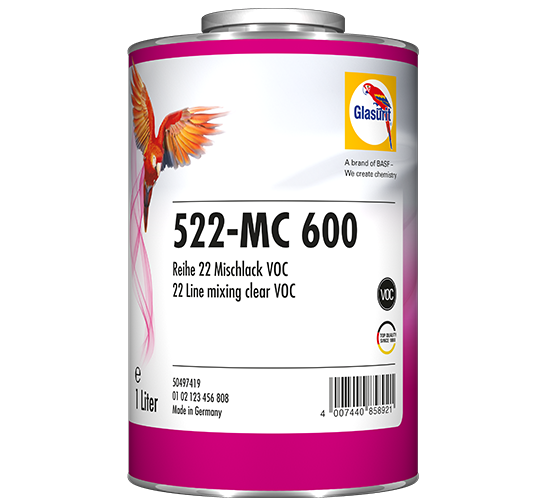 Glasurit 522-MC 600 resina de mezcla VOC