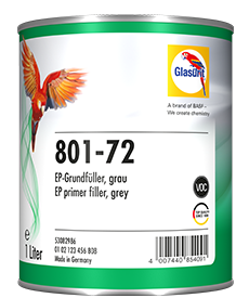 Glasurit 801-72 VOC EPOXY GRUNDFYLLER, GRÅ
