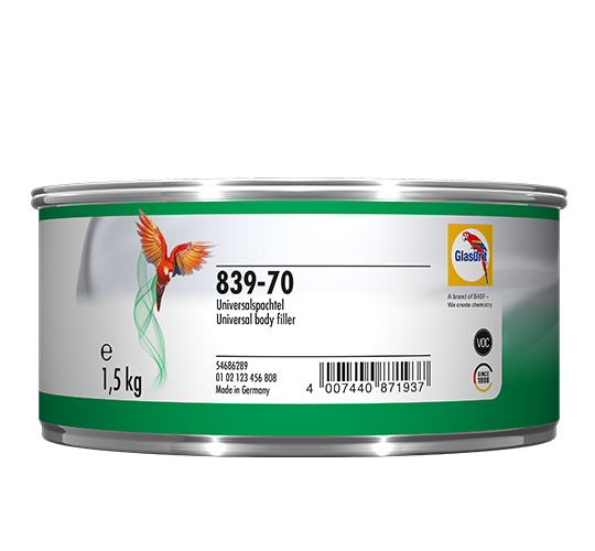 Glasurit 839-70/70K Universal-Spachtel hellgrau