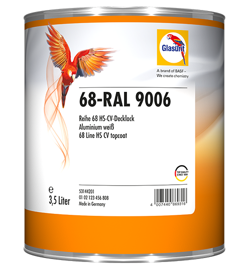 Glasurit 68-RAL 9006 HS 2K CV Topplack