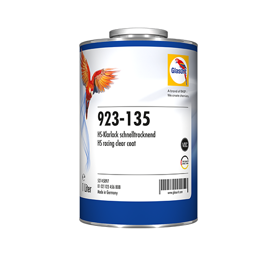 Glasurit 923-135 HS RACINGKLARLACK VOC