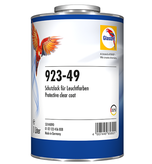 Glasurit 923-49 PROTECTIVE CLEAR FOR DAYLIGHT FLUORESCENT PAINT