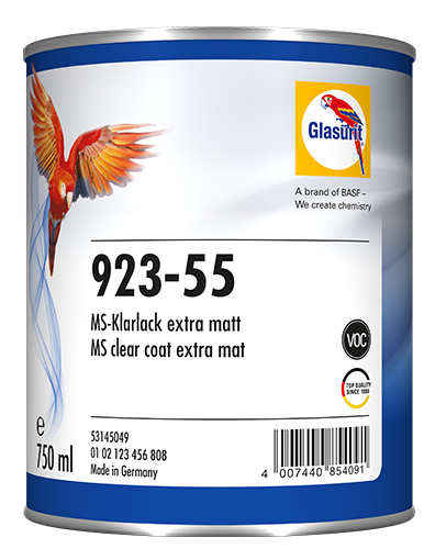 Glasurit 923-55 MS Ekstra matt klarlakk