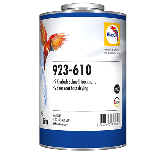 Glasurit 923-610 HS Clear fast Drying VOC
