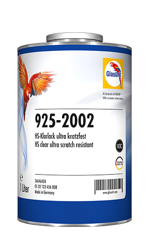 Glasurit 925-2002 HS Klarlack ultrareptålig VOC