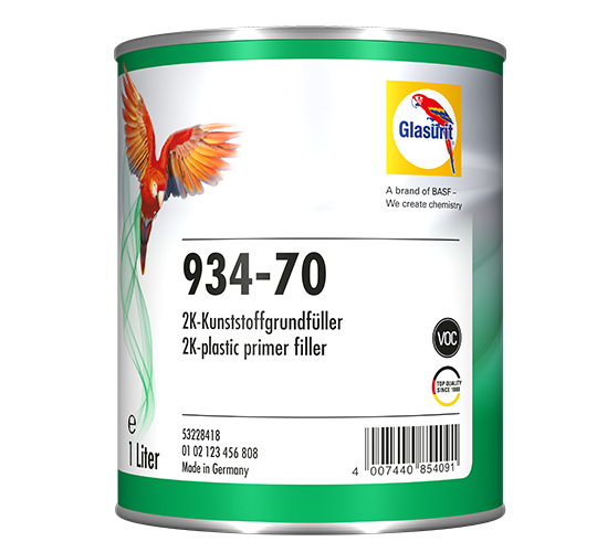 Glasurit 934-70 2K VOC PLASTICS PRIMER FILLER